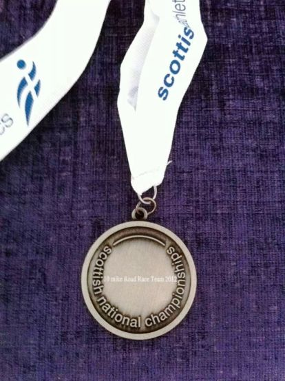 Scottish national champs medal