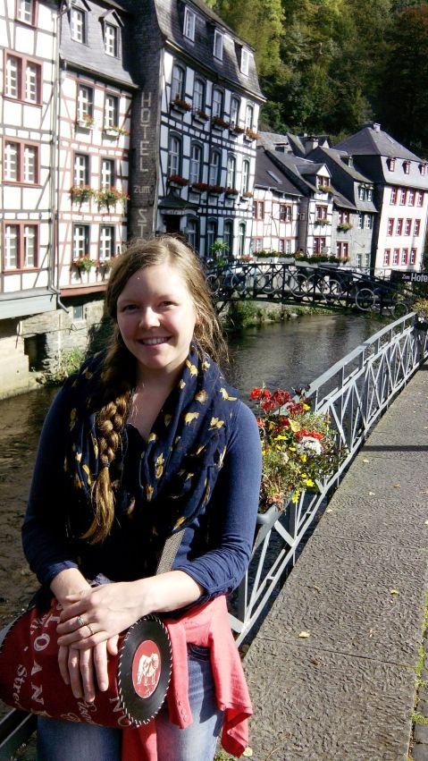Meg visiting Monschau