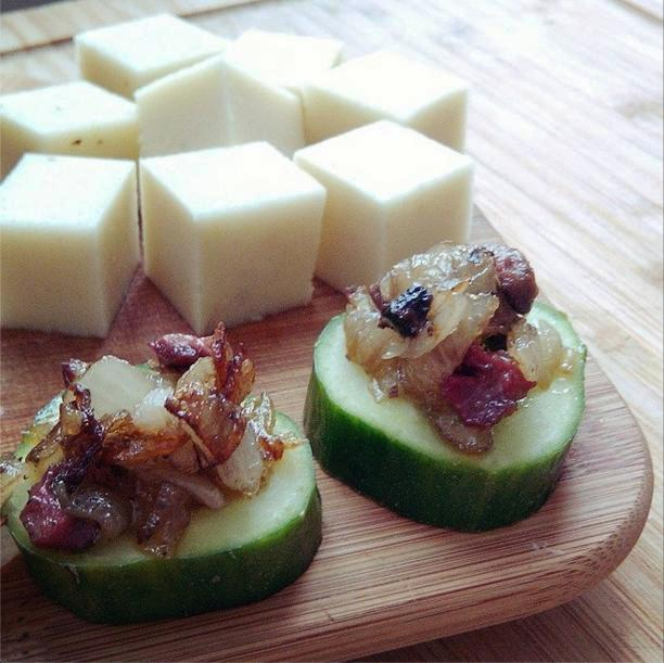Zucchini Cheese + offal snack